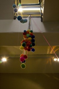 Pantone PomPom,  2009, detail, view, wool, dimensions variable